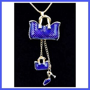 Purses and Shoes Necklace NEW